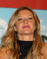 Gisele Bundchen at the photocall to launch