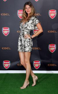 Gisele Bundchen at the press conference to announce Ebel as official timing partner of Arsenal football club.