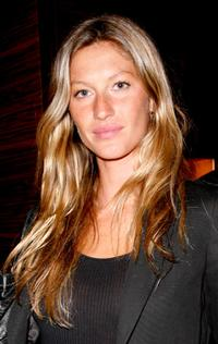 Gisele Bundchen at the opening of Ermenegildo Zegna Global Store.