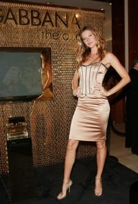 Gisele Bundchen at the launch of new Dolce & Gabbana fragrance