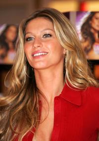 Gisele Bundchen at the promotion of Victoria Secret's Fashion Show.