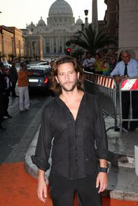 Henry Ian Cusick at the Auditorium della Conciliazione for the opening day of the RomaFictionFest.