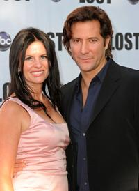 Annie Wood and Henry Ian Cusick at the ABC's