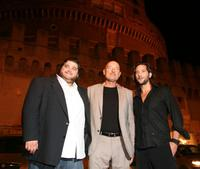 Jorge Garcia, Terry O'Quinn and Henry Ian Cusick at the Castel Sant'Angelo for the opening day party of the RomaFictionFest.