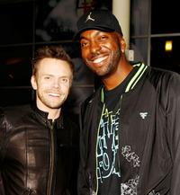 Joel McHale and John Salley at the premiere of