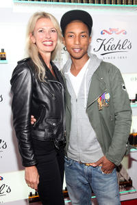 Cheryl Vitali and Pharrell Williams at the Kiehl's 160th anniversary celebration at Kiehl's Flagship Store in New York.