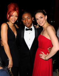Singer Rihanna, Pharrell Williams and Katharina Harf at the DKMS' 5th Annual Gala in New York.