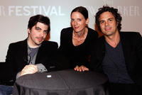 Christopher Thornton, Rebecca Mead and director Mark Ruffalo at the 2010 New Yorker Festival: