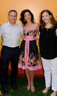 President Walt Disney Studios Alan Bergman, Moira Kelly and exec. VP, Product Management, Walt Disney Studios Lori MacPherson at the premiere of
