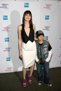 Michelle Monaghan and Jimmy Bennett at the premiere of
