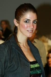 Tara Mercurio at the Kate O'Connor Spring 2005 show during the Mercedes-Benz Fashion Week.