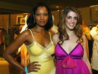 Garcelle Beauvais-Nilon and Tara Mercurio at the Missoni Spring 2005 and Retrospective Fashion Show.