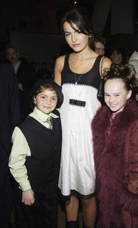 Arthur Young, Camilla Belle and Madeline Carroll at the premiere screening of
