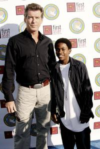 Pierce Brosnan and Malcolm David Kelley at the First Star's Annual Celebration of Children's Rights.