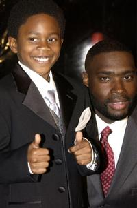 Malcolm David Kelley and Antwone Fisher at the premiere of