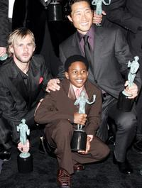 Dominic Monaghan, Malcolm David Kelley and Daniel Dae Kim at the 12th Annual Screen Actors Guild Awards.