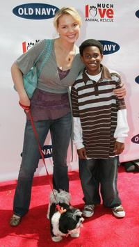 Katherine Heigl and Malcolm David Kelley at the Old Navy's Kicks Off Nationwide Search For New Mascot.