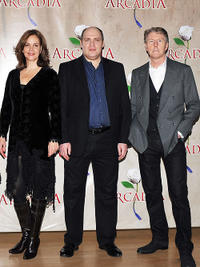 Margaret Colin, Glenn Fleshler and Byron Jenning at the photocall of