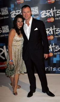 Lauren Barbour and Gary Kemp at the 25th Anniversary BRIT Awards 2005.