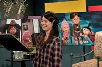 Miranda Cosgrove on the set of