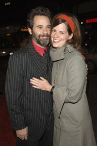 Paul F. Tompkins and Janie Haddad at the premiere of