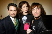 Paul F. Tompkins, Laura Kightlinger and Jack Black at the taping for