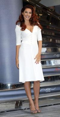 Kelly Brook at the New Look Flagship store.