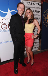 Matthew Jaeger and Shoshannah Stern at the 8th Annual Ivy Bethune Tri-Union Diversity Awards in California.