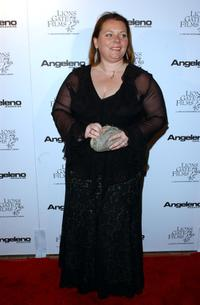Joanna Scanlan at the Angeleno Magazine and Lion Gates pre-Oscar party.