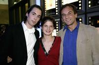 Lucas Kotaranin, Svea Lohde and Peter Davor at the premiere of