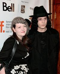 Meg White and Jack White at the screening of