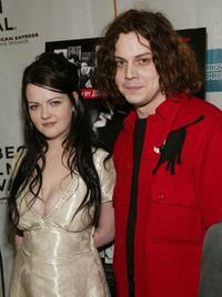Meg White and Jack White at the New York premiere of