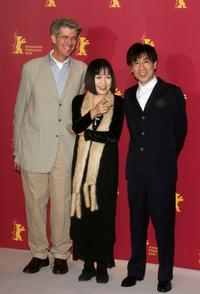 Robert Dawson, Kaori Momoi and Issey Ogata at the photocall of