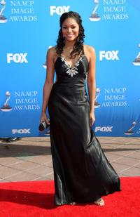 Erica Hubbard at the 39th NAACP Image Awards.