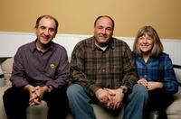 Director Armando Lannucci, James Gandolfini and Mimi Kennedy at the 2009 Sundance Film Festival.