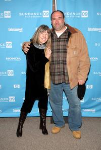 Mimi Kennedy and James Gandolfini at the premiere of