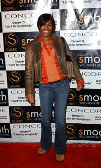 Terri J. Vaughn at the private listening party for Deezer D.'s soon to be released album