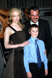 Nicole Kidman, Cameron Bright and Danny Huston at the premiere of