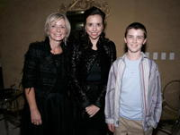 Joan Brehl, Jane Boone Pearlstine and Cameron Bright at the after party of