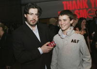 Director Jason Reitman and Cameron Bright at the after party of