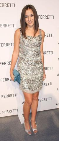 Zelda Williams at the Alberta Ferretti Store opening.