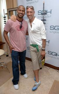 Finesse Mitchell and Robert Verdi at the Sunglass Hut Swim Shows Miami.