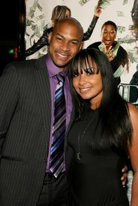 Finesse Mitchell and Jessica Santos at the premiere of