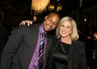Finesse Mitchell and Director Callie Khouri at the premiere of