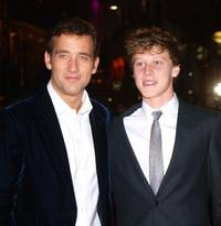 Clive Owen and George MacKay at the premiere of