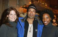 Kate Krystowiak, Mario Van Peebles and Karimah Westbrook at the Gen Art/French Connection UK party during the 2004 Sundance Film Festival.