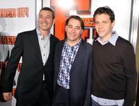 Producers Peter Jaysen, Matthew Gross and Will Gluck at the premiere of ''Fired Up.