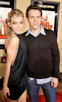 Annalynne McCord and Will Gluck at the premiere of ''Fired Up.