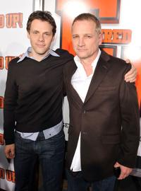 Will Gluck and Clint Culpepper at the premiere of ''Fired Up.