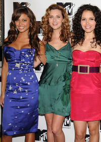 Vanessa Minnillo, Hilarie Burton and Susie Castillo at the MTV's TRL